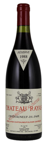 Chateau Rayas Chateauneuf du Pape Reserve 1988 750ml (Stained Label)