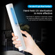 UV Light Sterilizer Portable Lamp Sanitizer Travel Wand Anti-Bacterial Rate 99% UV Lamp Without Chemicals for Hotel Household Wardrobe Toilet Car Pet Area(White)