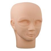 Permanent Makeup 3D Tattoo Practice Skin Mannequin Head with 2pcs Eyes + 1pcs Lip