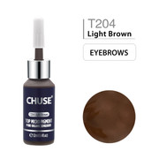 CHUSE T204, 12ml, Light Brown, Passed SGS,DermaTest Top Micro Pigment Cosmetic Color Permanent Makeup Tattoo Ink