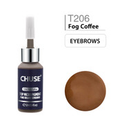 CHUSE T206, 12ml, Fog Coffee, Passed SGS,DermaTest Top Micro Pigment Cosmetic Color Permanent Makeup Tattoo Ink