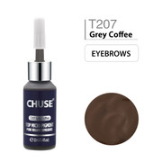 CHUSE T207, 12ml, Grey Coffee, Passed SGS,DermaTest Top Micro Pigment Cosmetic Color Permanent Makeup Tattoo Ink