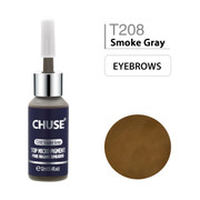 CHUSE T208, 12ml, Smoke Gray, Passed SGS,DermaTest Top Micro Pigment Cosmetic Color Permanent Makeup Tattoo Ink