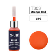 CHUSE T303, 12ml, Orange Red, Passed SGS,DermaTest Top Micro Pigment Cosmetic Color Permanent Makeup Tattoo Ink
