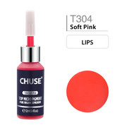 CHUSE T304, 12ml, Soft Pink, Passed SGS,DermaTest Top Micro Pigment Cosmetic Color Permanent Makeup Tattoo Ink