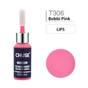 CHUSE T306, 12ml, Bobbi Pink, Passed SGS,DermaTest Top Micro Pigment Cosmetic Color Permanent Makeup Tattoo Ink