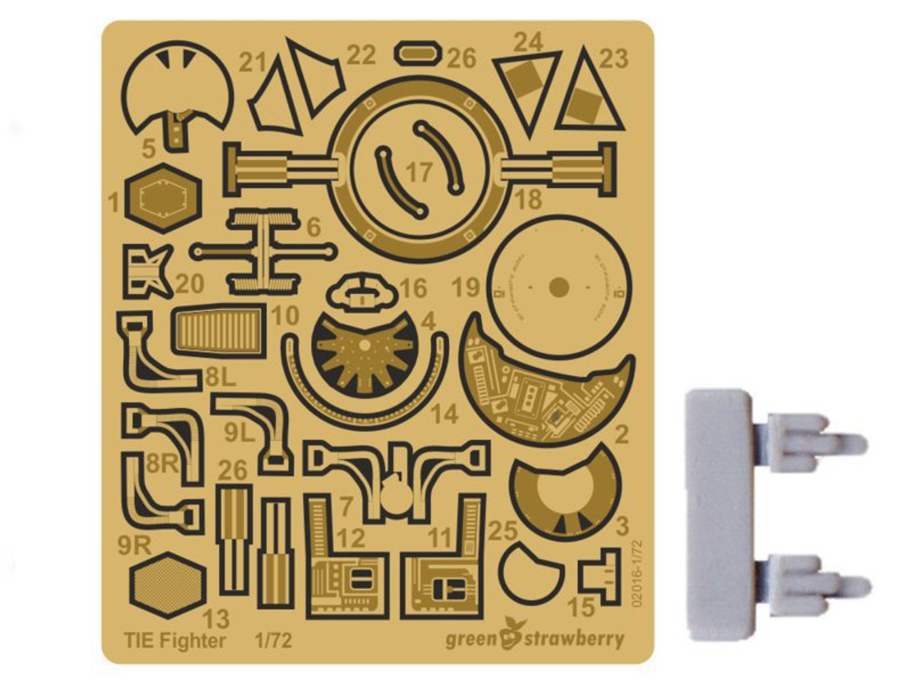 Green Strawberry 1/72 Tie Fighter Photoetch Detail Set