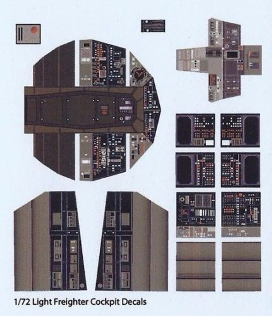 Paragrafix PGX180 - 1/72 Millennium Falcon Photoetch Set For FineMolds