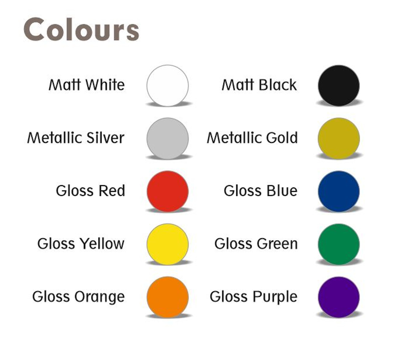 BECC Standard Arial Font Pack - 4mm (Choice Of Colours)
