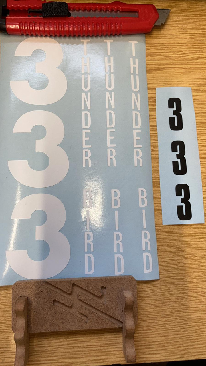 A decal sheet is included with the kit