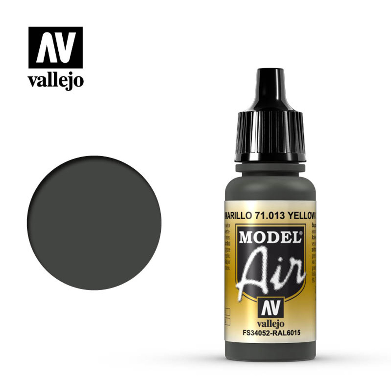 Vallejo Model Air 17ml - YELLOW OLIVE