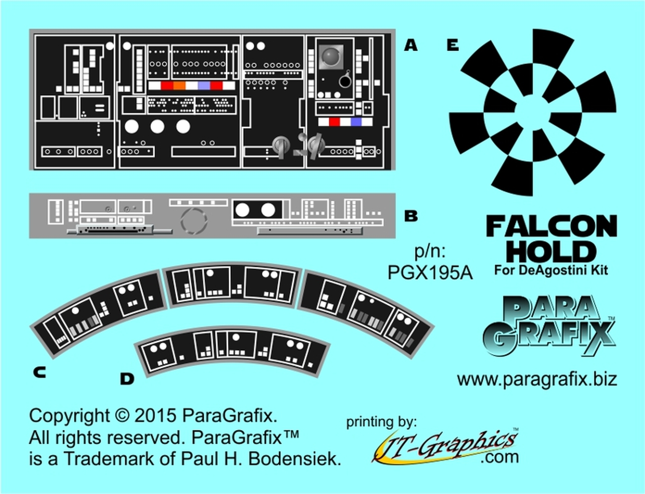 PARAGRAFIX PGX195 - DEAGOSTINI FALCON HOLD PHOTOETCH SET