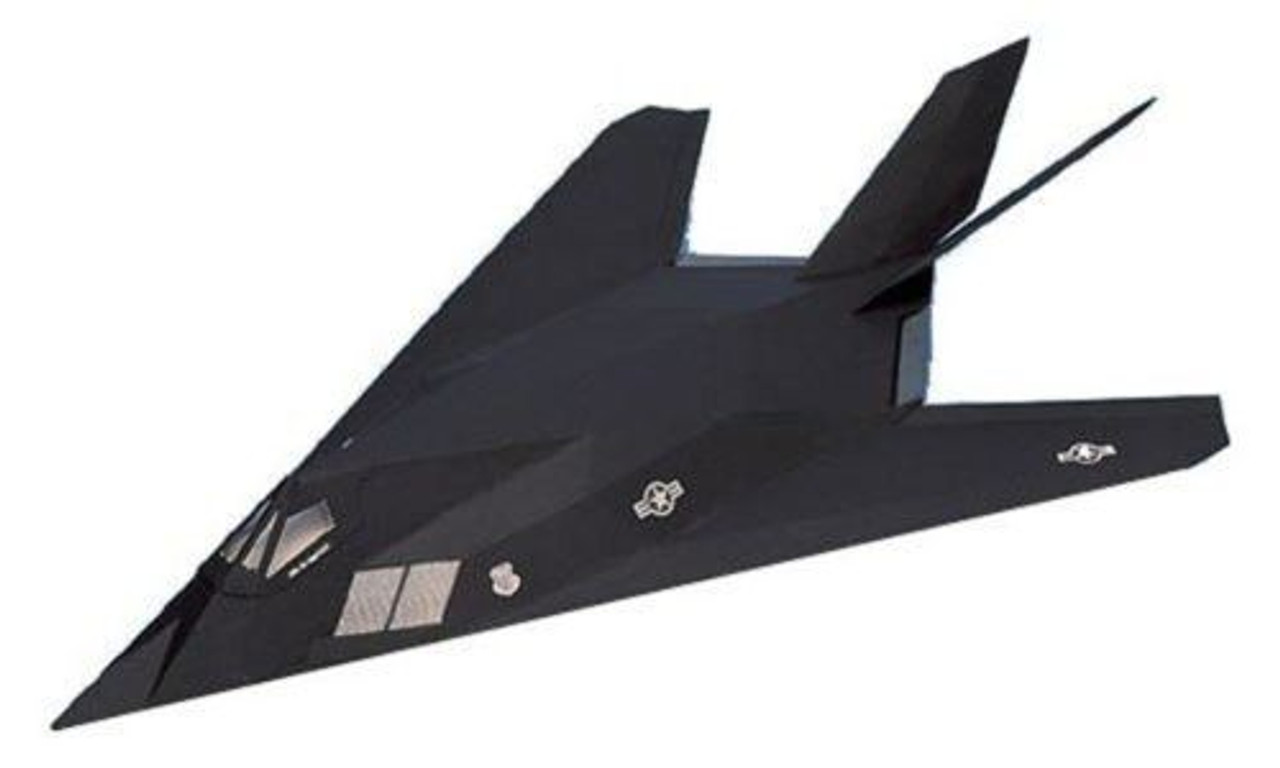 West Wings Stealth Fighter F117A Balsa Wood Flying Scale Model Plane