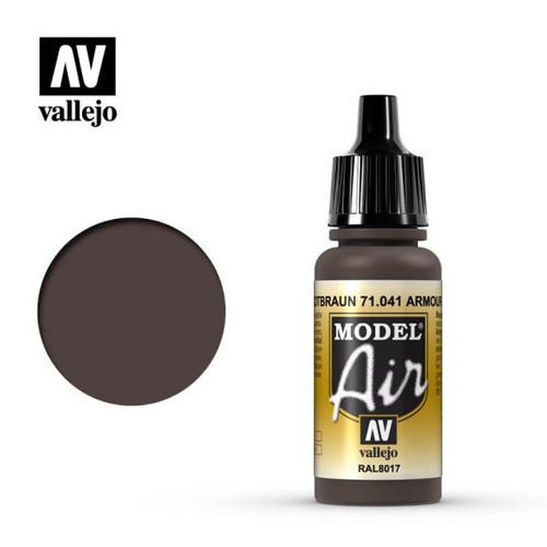 Vallejo Model Air 17ml – Tank Brown (041)