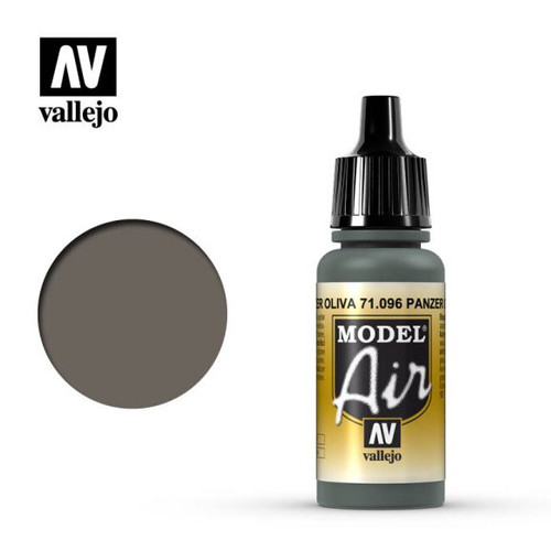 Vallejo Model Air 17ml – Panzer Olive Green (096)