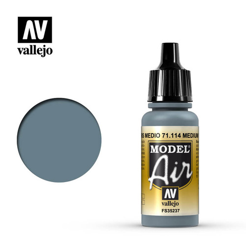 Vallejo Model Air 17ml – Medium Grey / US Blue Grey (114)
