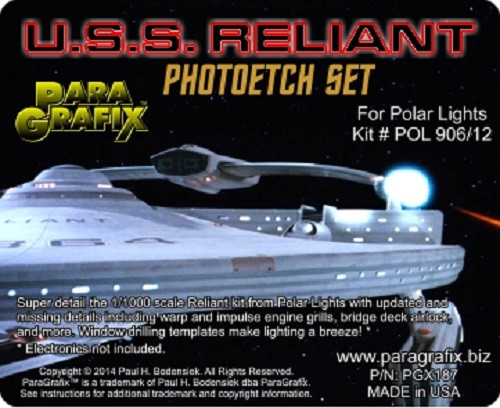 PGX187 1/1000 Reliant Photoetch Set For Polar Lights POL906 Model Kit