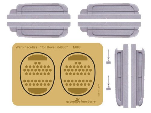 "Green Strawberry 1/600 Warp nacelles Detailing Set ""for Revell 04880"""