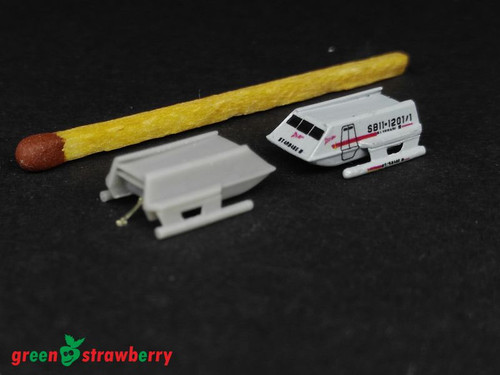 Green Strawberry 1/600 Shuttle type F -TOS resin kit with PE and Decals