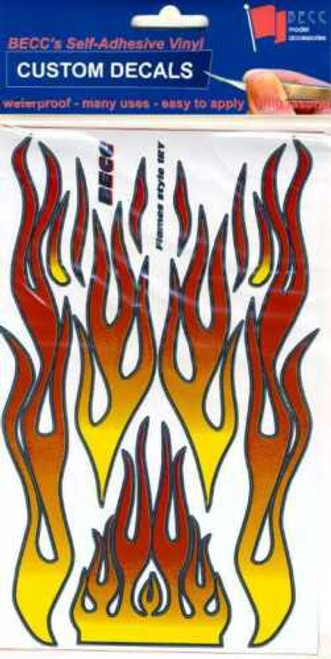 BECC FLAMES RY - Flames Type 1 (Red & Yellow) for 1:10 - 1:12 Scale