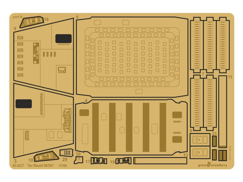 """Green Strawberry 1/160? AT-ACT """"for Revell 06754"""" Photoetch Detailing Set"""