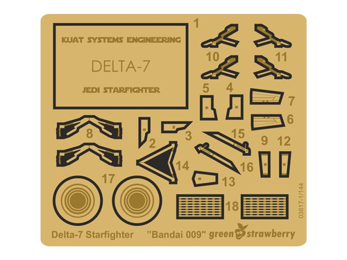Green Strawberry 1/144 Bandai 009 Delta-7 Starfighter Photoetch Detailing Set