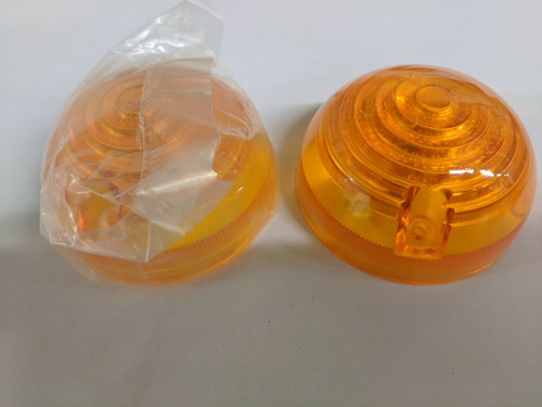 Pair of Dome Lenses for OSD Style Kelad - Amber