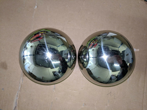 Pair of Full Size NSD / OSD Kelad 100mm stainless steel gazing balls Arm Pivot (Undrilled)