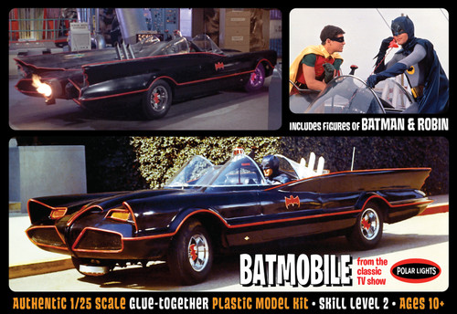 Polar Lights POL920 - 1/25 1966 Batmobile with Batman and Robin Figures