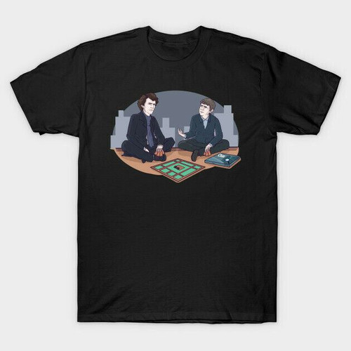 Mens Nerdy Byrd Black Clue: Sherlock Edition T-Shirt - Medium