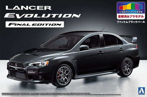 Aoshima 05090 - 1/24 MITSUBISHI CZ4A LANCER EVOLUTION FINAL EDITION '15 (PHANTOM BLACK PEARL)