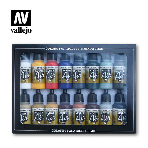 Vallejo 71178 - Model Air 16 Basic Colors Set
