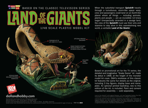 DHG1816 - 1/48 Land Of The Giants Snake Diorama