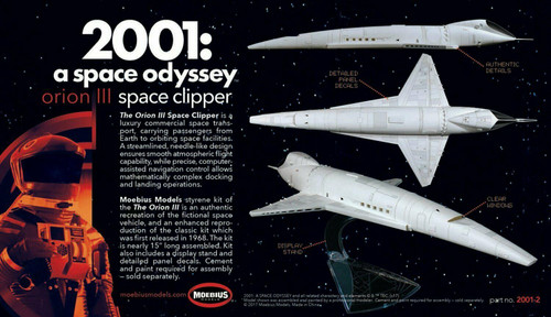 Moebius MMK2001-2A - 1/160 Pan American space Clipper Orion from 2001: A Space Odyssey