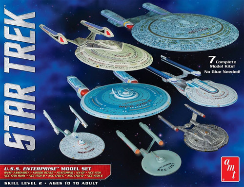 AMT954 - 1:2500 Star Trek USS Enterprise 7 Model Set