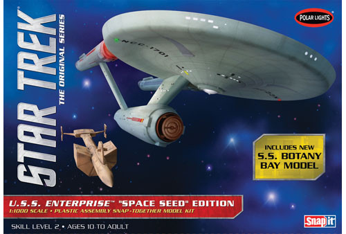 Polar Lights 908 - 1/1000 Star Trek TOS USS Enterprise Space Seed Edition (Includes S.S Botany Bay Model)