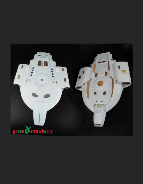 Green Strawberry 08019-1/420 - U.S.S. Defiant NX / NCC-74205 - Engines and Exterior