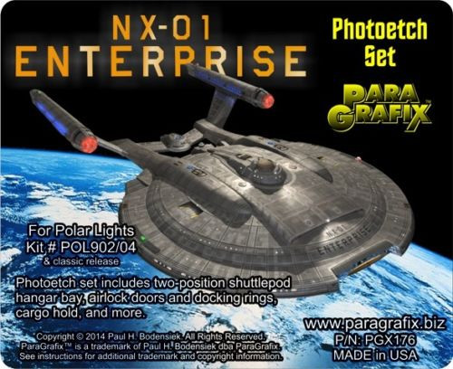 Paragrafix PGX176 NX-01 Enterprise Photo Etch Details for POL 902/04