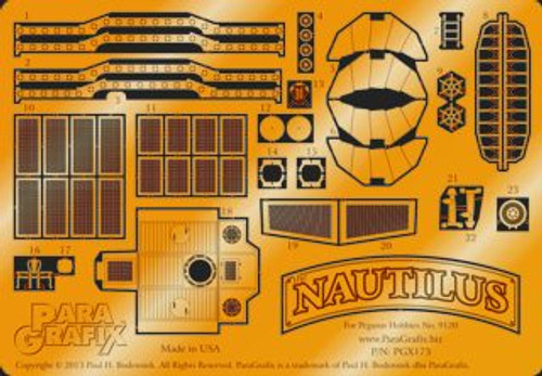 Paragrafix PGX173 1/144 Nautilus Photoetch Set For Pegasus 9120 Kit