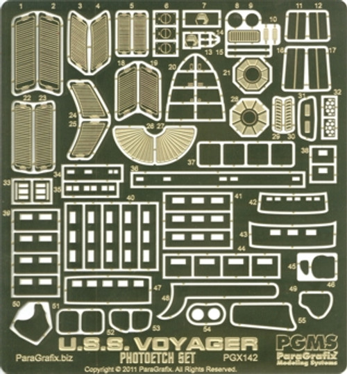 Paragrafix PGX142 1:677 U.S.S. Voyager Photoetch Set For Revell 04801