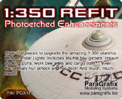 Paragrafix PGX111 Photoetch Enhancements For Polar Lights 1/350 USS Enterprise Refit Kit