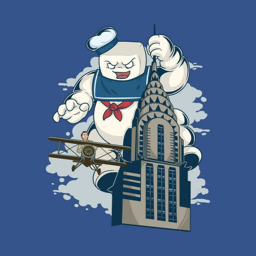 Ghostbusters Empire Stayte Building (Stay Puft) T-Shirt