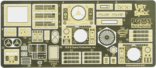 Paragrafix PGX121 Jupiter 2 Photoetch and Decal Set - FOR KIT: Moebius #913