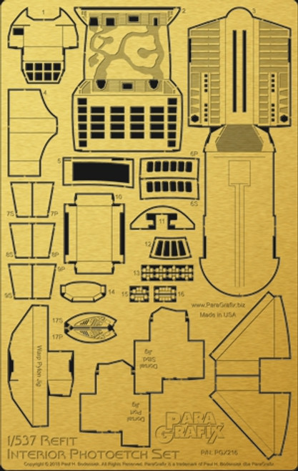 Paragrafix PGX216 - 1/537 Refit Interior Photoetch Set