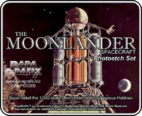 Paragrafix PGX209 - 1/350 Moonlander Photoetch Set for Pegasus 9109 Kit