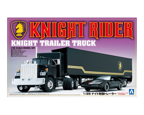 Aoshima 03066 - 1/28 KNIGHT RIDER TRUCK & TRAILER (KITT CAR NOT INCLUDED)