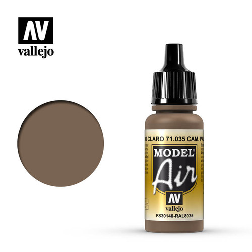 Vallejo Model Air 17ml - CAMOUFLAGE PALE BROWN