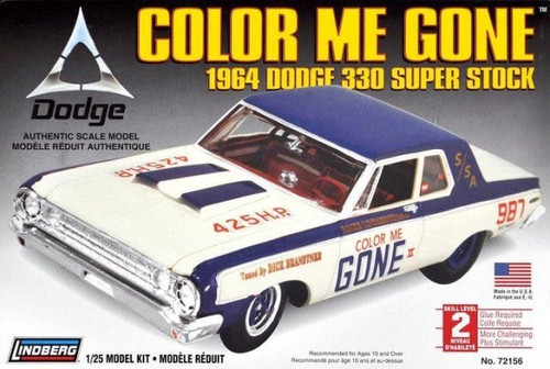 Lindberg 72156 - 1:25 Color Me Gone 1964 Dodge 330 Super Stock