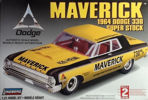 Lindberg 72174 - 1:25 Maverick 1964 Dodge 330 Super Stock