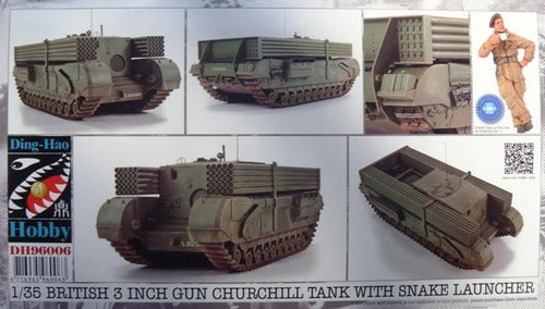 Ding Hao DH96006 - 1:35 British 3 inch gun Churchill tank with snake launcher